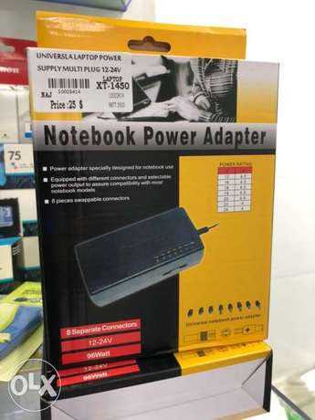 Laptop Adapter Universal Can operate any laptop 12V-24V