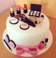 Classy make-up cake for ladies