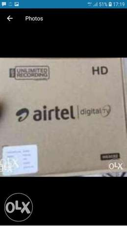 New Full HDD Airtel receiver with 6months south malyalam tamil telgu