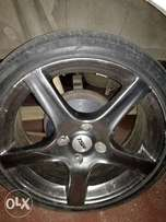 17 inch TSW 4 hole Mag Rims, and tyres for sale