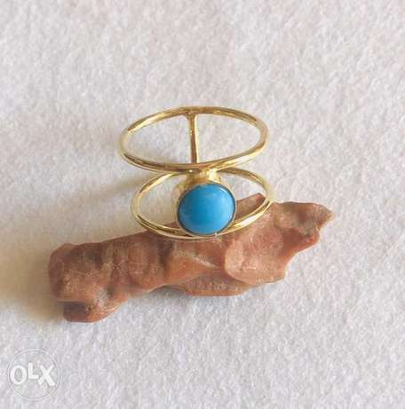 American Turquoise 18k gold ring