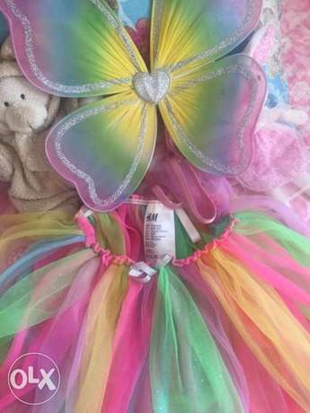 Tutu skirt with butterfly wings for kids