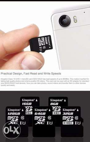 Kingston Micro SD Card Memory Card 16 gega