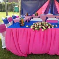Tents,dressed chairs and tables and decor for hire