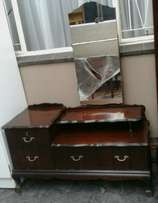 Antique imbuia ball and claw dressingtable