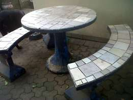 Outside table and benches for sale