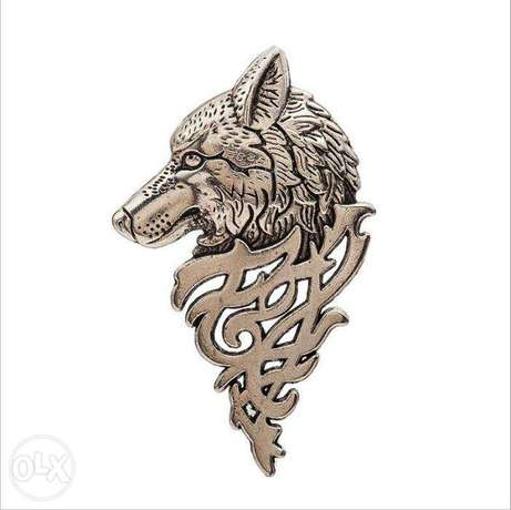 Retro Domineering Game of Thrones Wolf Badge Brooch Nairobi CBD - image 2