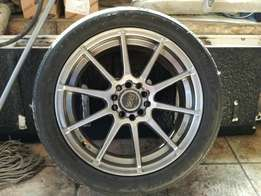 17 inch mag wheels and tyres