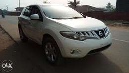 Clean White Colored 2009 Nissan Murano SL AWD With Auto Fabric Cold AC