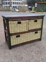 Wooden Chester with papyrus drawers