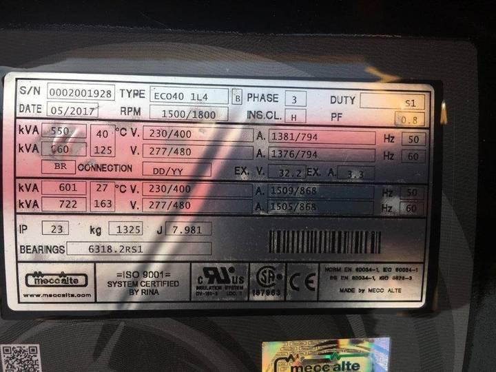 Doosan DP158LD - 580 kVA Generator - DPX-15557 - 2019 - image 14