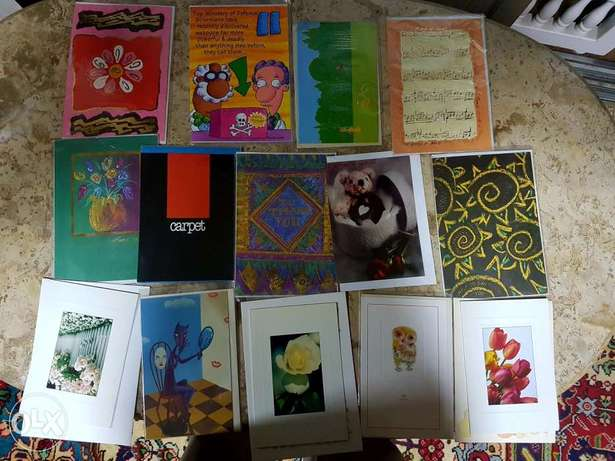 greeting cards and office items