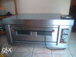 baking oven & double chips machine