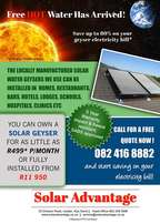 Solar HOT Water Geyser… FREE Hot water has arrived