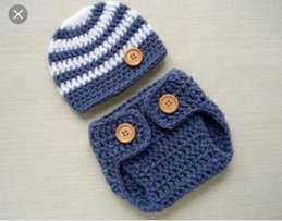Adorable crochet baby wears . Fi