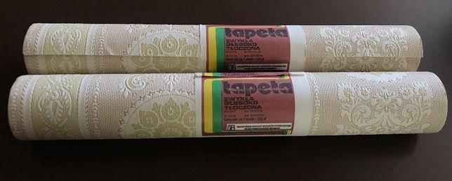 4 tapety wytłaczane, papierowe ,z czasu PRL u, do stylizacji