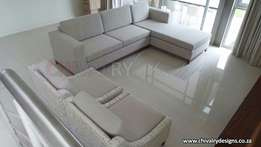 The Light L Shaped Couch From Chivalry Designs for only R12000