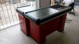 Non-Rolling L-Shaped & U-Shaped till table\Cashier table,Check-Out co