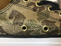 3c60f03b71779 Converse All Star 41 US 9.5 złote moro tenisówki sneakersy