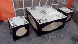 Coffee table n two stools