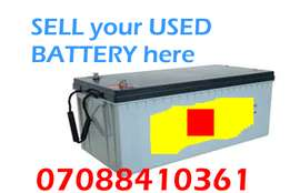 Used inverter battery Ayobo ipaja