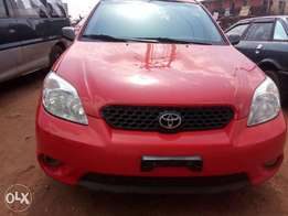 Beautiful Red Toyota matrix