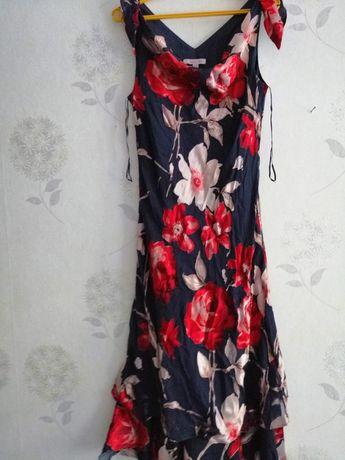 Piękna sukienka na lato rozm 42 44 kwiaty Zgierz • OLX.pl