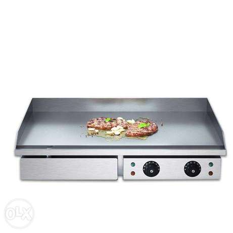 Commercial stainless steel bbq grill full flat electric griddle