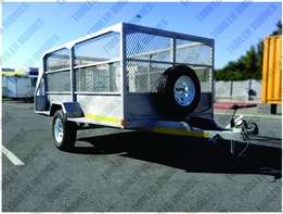 All purpose trailers with mesh sides to rent