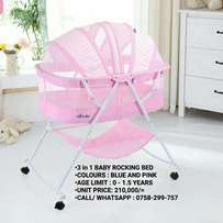 3 in 1 rocking baby bed