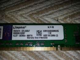 Kingston 2gb ddr3 1333MHz ram for sale
