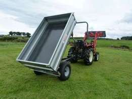 Tractor Tipping Trailer 1.5 Ton/ 1500kg with Road lights.