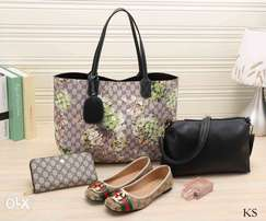Gucci handbag with shoes