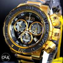 Invicta 21642 Reserve Subaqua Sea Dragon Swiss Black Gold Chronograph