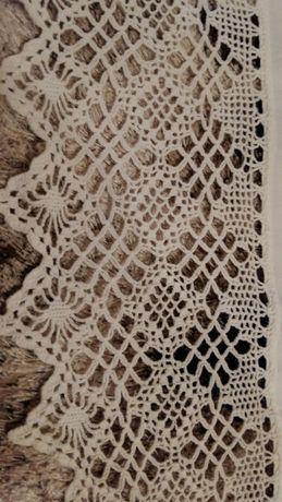 Старовинні лляні простині з мереживом ручної роботи Малин - зображення 3 9fea56c4cea98