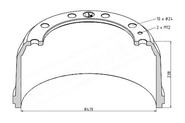 Drum new truckparts1919 brake  for truck - 2019