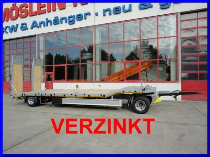 Möslein T 2 2 Achs Tieflader- Anhänger, FeuerverzinktNeu - 2019