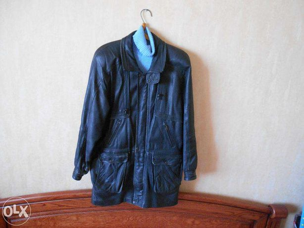 куртка мужская кожаная (Турция) XL черного цвета недорого Київ - зображення  1 32c2b30f9b446