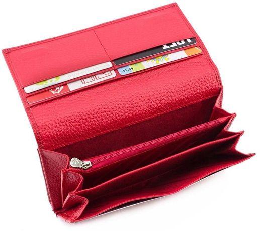 d0dd7a633bb5 Красного цвета кожаный женский кошелек под карточки MARCO COVERNA Киев -  изображение 6