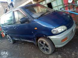 Nissan Serena manual. Seven seater. 1800cc. With leaf springs.