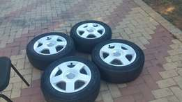 4 Audi mags and tyres