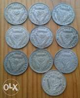 Lot of x10 S.A union silver tickeys (1950's)