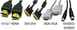 VGA,HDMI,DVI,HDMI to DVI cables available