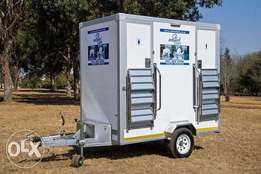 Mobile toilet for hire