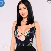 Flowered body suit size 12