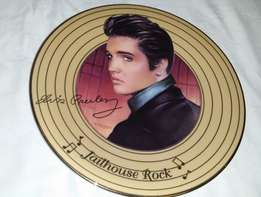 "Limited Edition - ""Jailhouse Rock"" first issue solid gold Elvis plate"