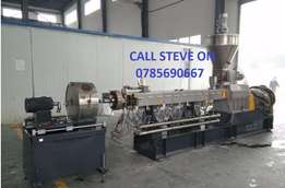 Granulating Plastic Twin Screw Extruder. Brand new one year warranty