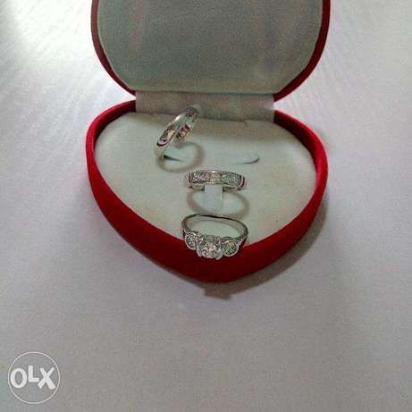 AAA Zircon Micro Paved Silver Wedding & Engagement Ring 10 in a Box Lagos Mainland - image 1