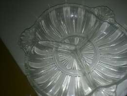 glass snack tray ad513