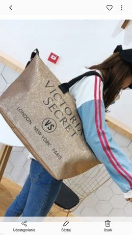 6b5f35b37cd78 Piękna mieniaca sie torba Victoria secret Bydgoszcz - image 2
